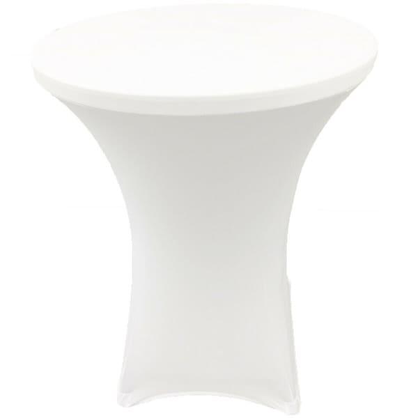 "CocktailSpandexFittedStretchTablecloth28"" x 43"" White"