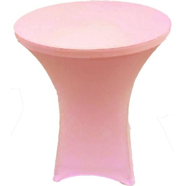 "CocktailSpandexFittedStretchTablecloth32"" x 43"" Pink"