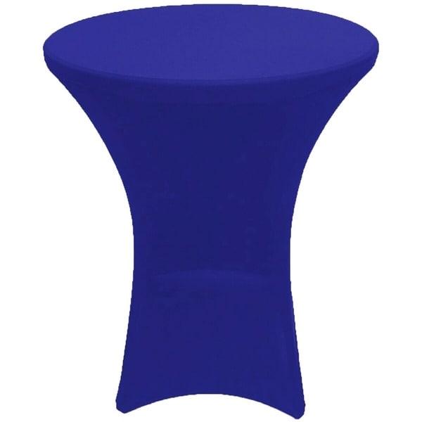 "CocktailSpandexFittedStretchTablecloth32"" x 43"" Royal Blue"