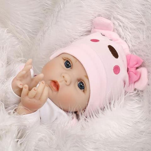 "22"" Cute Simulation Baby Infant Toy Pink - silicone material"