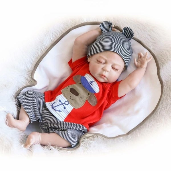"""23"""" Cute Full Simulation Silicone Baby Body Reborn Baby Doll - Baby Boy - silicone material"""