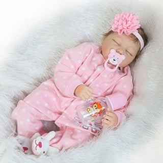 Link to Europe and America Lovely Simulation Baby Doll with Clothes Pink - Girl - silicone material Similar Items in Dolls & Dollhouses