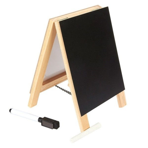 Juvale Double Sided Chalkboard Stand and Dry Erase Sign - Dual Tabletop Easel