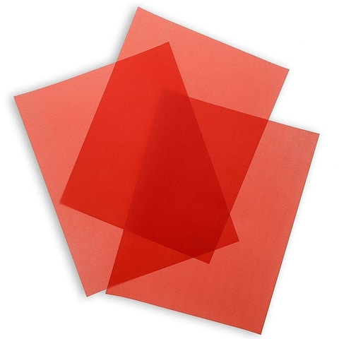"""50-Sheets Red Vellum Paper for Card Making, Invitations, Scrapbooking, 8.5 x 11"""""""