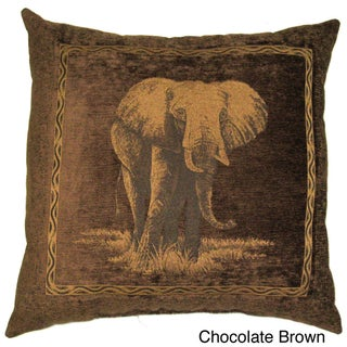 Blazing Needles 25-inch Premium Chenille Elephant Pillow