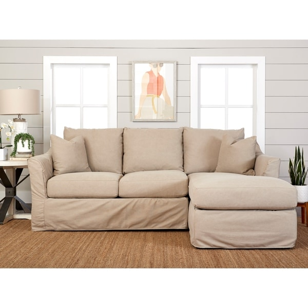 Copper Grove Deventer Right-facing Loveseat Chaise Sectional with Slipcover