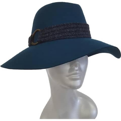 Rancher women's wool felt fedora fall winter hat
