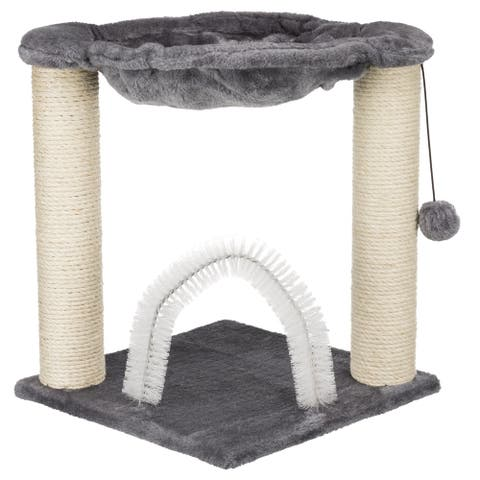 Baza Scratching Post with Hammock Gray
