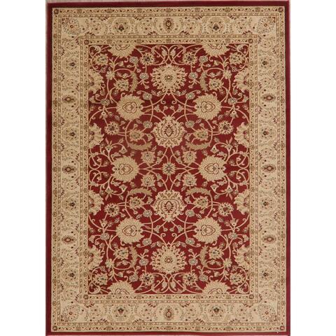 "Traditional Oriental Carpet Polyester & Jute Turkish Area Rug - 7'3"" X 5'3"""