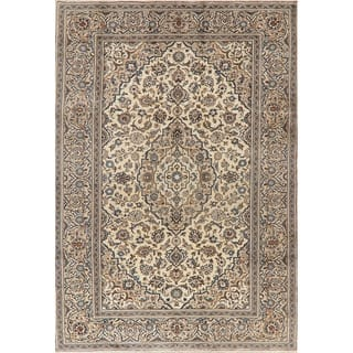 "Kashan Oriental Hand Knotted Carpet Traditional Wool Persian Area Rug - 11'3"" X 7'11"""