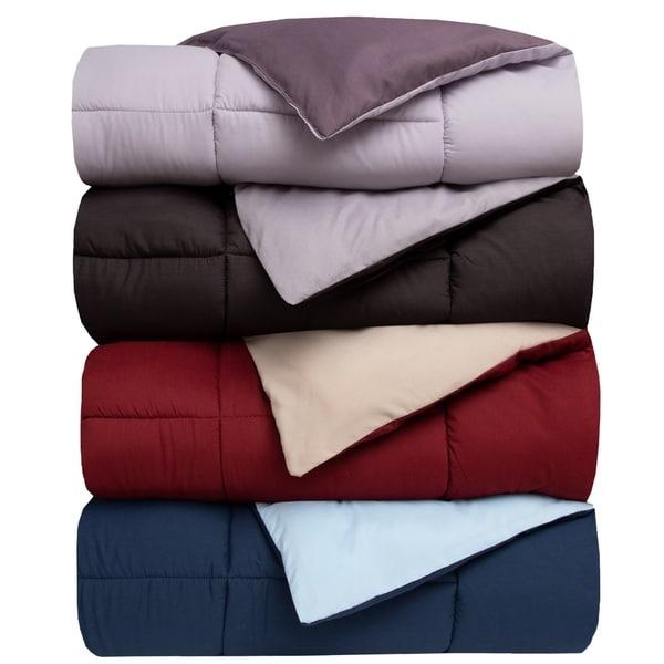 Reversible Down Alternative Comforter. Opens flyout.
