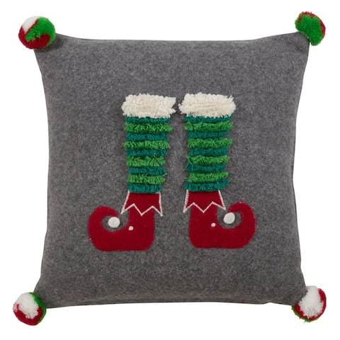 Elf Legs Throw Pillow.