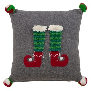 Elf Legs Throw Pillow.