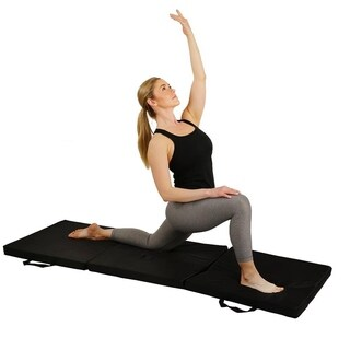 Sunny Health & Fitness No. 048 Tri-Fold Exercise Mat - Black