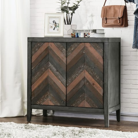 Furniture of America Gees Rustic Grey 2-door Accent Cabinet