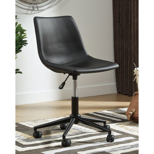 Casual Black Home Office Swivel Desk Chair. Opens flyout.