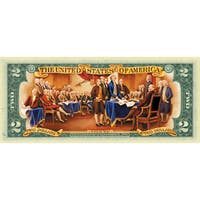 American Coin Treasures Colorized $2 Bill in Currency Portfolio