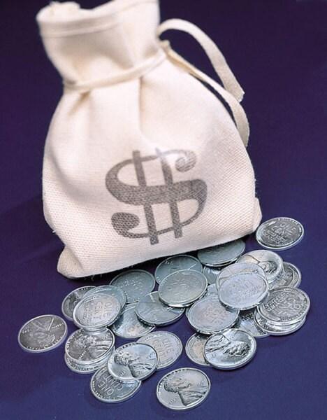 American Coin Treasures Banker's Bag of 1943 Lincoln Steel Pennies