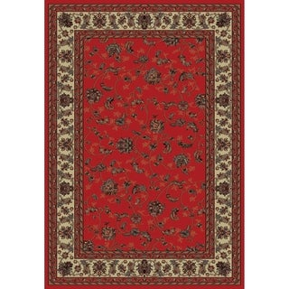 Rug Branch Montage Vintage Traditional Area Rug, Red
