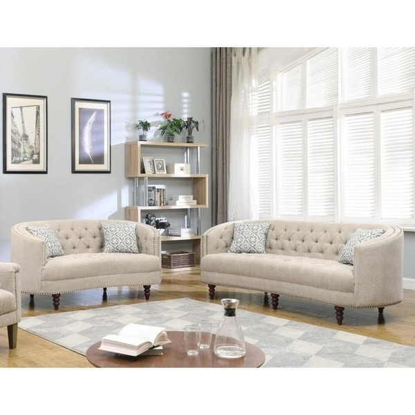 Best Master Furniture Rounded Back Sofa & Loveseat