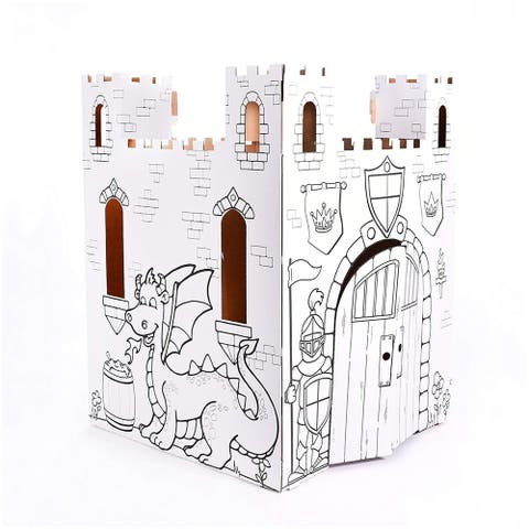 Easy Playhouse Fairy Tale Castle Cardboard Playhouse