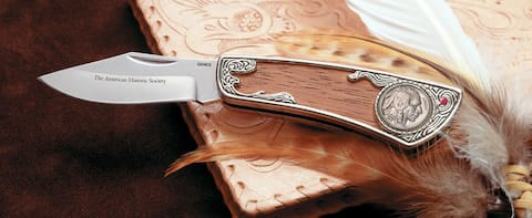 American Coin Treasures Buffalo Nickel Pocket Knife with Genuine Ruby