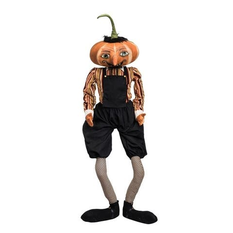 Gilbert Pumpkin Head Joe Spencer Gathered Traditions Art Doll