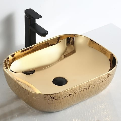"Thena ""Imperial Jewel Collection"" Gold Vessel Sink"