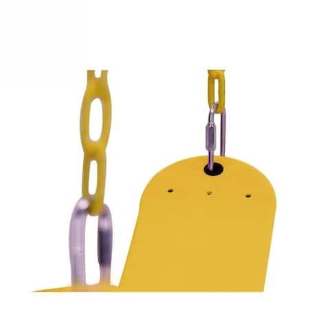 Heavy Duty Swing Seat Set Swings Slides Gyms Outdoor Green/yellow