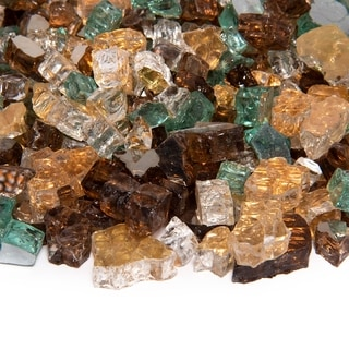 Original Fire Glass Blends | Indoor and Outdoor Fire Pits or Fireplaces | 10 lbs