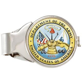 American Coin Treasures Silvertone JFK Army Money Clip