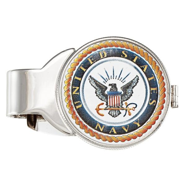 American Coin Treasures Silvertone JFK Navy Money Clip