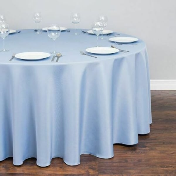"Polyester Round Tablecloth 120"" Serenity Blue"