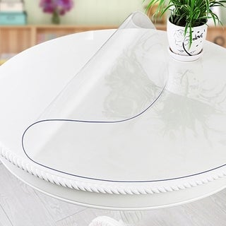 "WaterproofTransparentClearPlasticPVCRoundTablecloth39""Diameter"