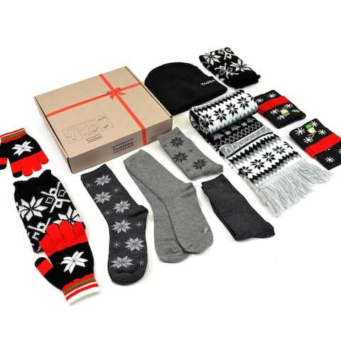 TeeHee Christmas Women 9items Socks Beanies Scarf Glove (Christmas-B)