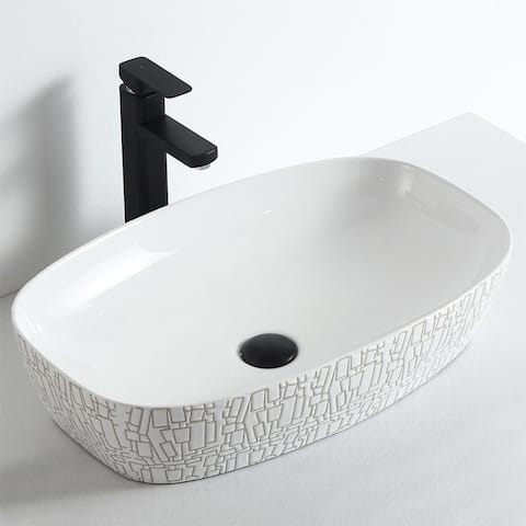 """Camellia """"Cotton White Plus Collection"""" Vitreous China Vessel Sink"""