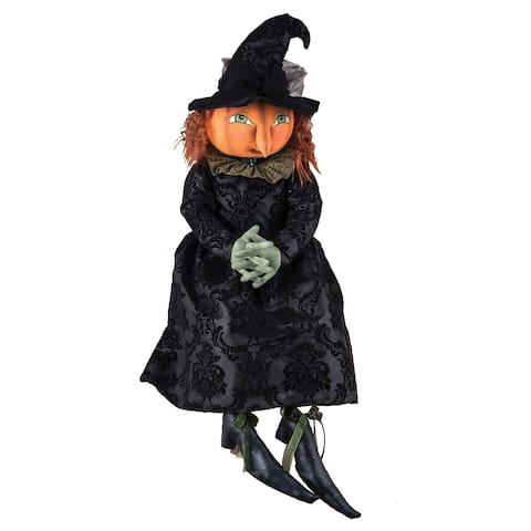Georgiana Pumpkin Witch Joe Spencer Gathered Traditions Art Doll
