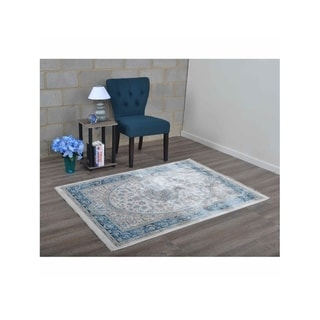 Traditional Medallion Oriental Over Dyed Crossweave Turkish Area Rug