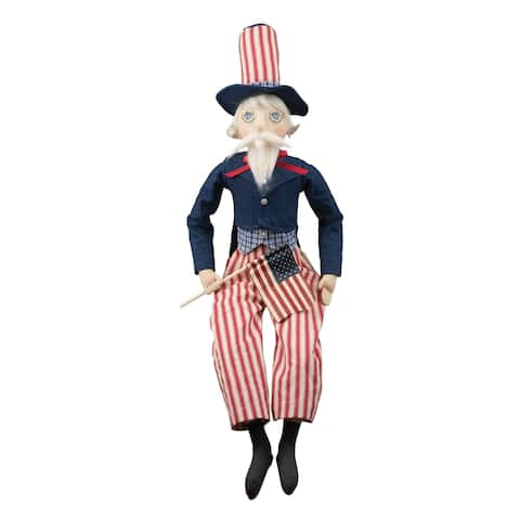 Uncle Sammy Patriotic Joe Spencer Gathered Traditions Art Doll