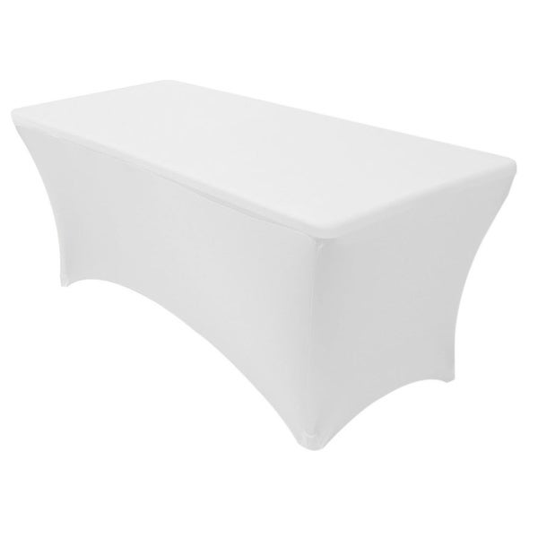 "Stretch Spandex Rectangular Tablecloths 8 Foot (96"" x 30"") White"