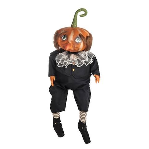 Gersham Pumpkin Head Joe Spencer Gathered Traditions Art Doll