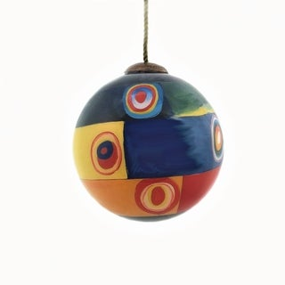 Link to overstockArt Farbstudie Quadrate Hand Painted Glass Ornament Similar Items in Christmas Decorations