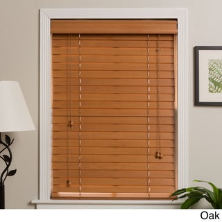 Arlo Blinds Customized 75-inch Real Wood Window Blinds