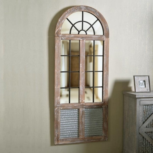 The Gray Barn Vicarage Rustic Windowpane Wall Mirror. Opens flyout.