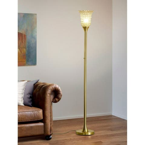 Silver Orchid Pica 72-inch Dimmable Floor Lamp