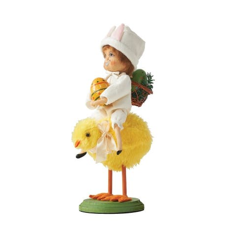 Lulu Bunny Riding Chick Gathered Traditions Art Doll