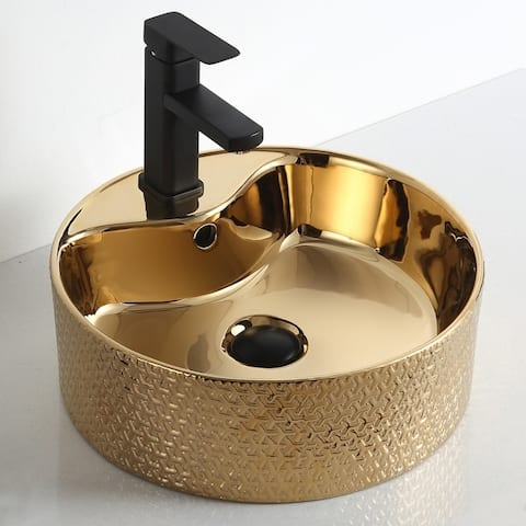 "Thea ""Imperial Jewel Collection"" Gold Vessel Sink"