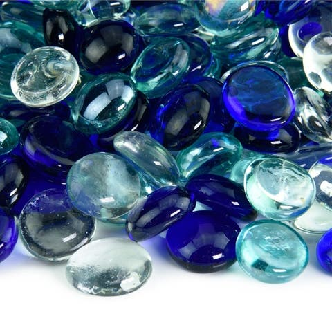 Fire Glass Bead Blends Indoor and Outdoor Fire Pits or Fireplaces 10 Pounds