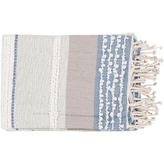 "Nita Coastal Hand Woven 50"" x 60"" Cotton-Blend Throw"