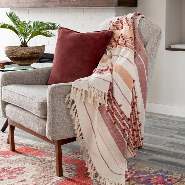 Handwoven Woven bed runner Sofa blanket Woven wool throw Black throw blanket Woven blanket gray Wool blanket Knitted throw 28x76
